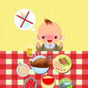 Εισαγωγή στερεών τροφών δεν σημαίνει αποθηλασμό