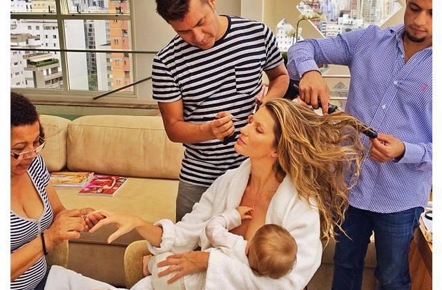 Και η Gisele Bündchen, ναι το σούπερ μόντελ, θηλάζει την ενός έτους κόρη της!