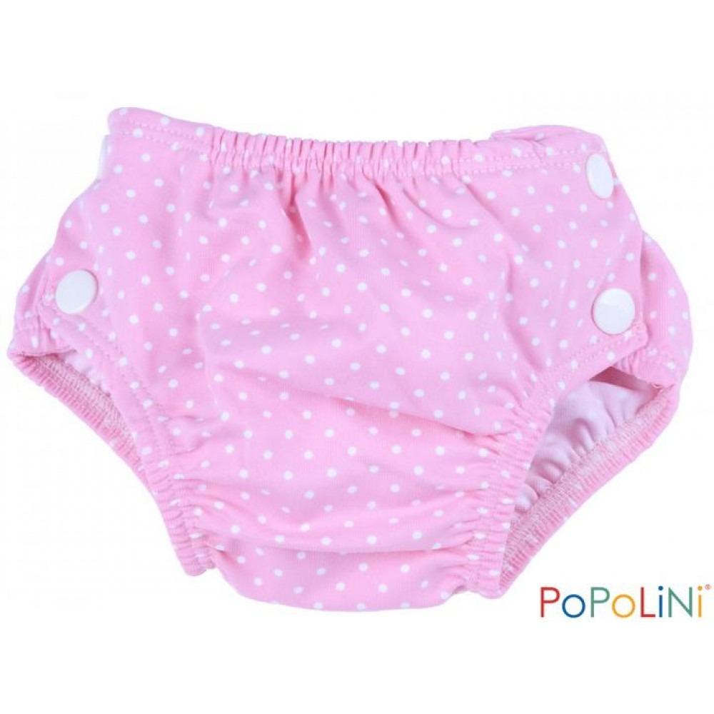 Μαγιό - πάνα - Popolini - Ροζ πουά