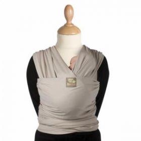 Μάρσιπος Wrap, tricot-slen organic cotton για babywearing - Babylonia - Γκρι ανοιχτό
