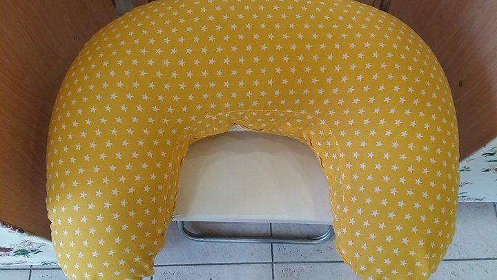 Μαξιλάρι θηλασμού - Κίτρινο, αστεράκια