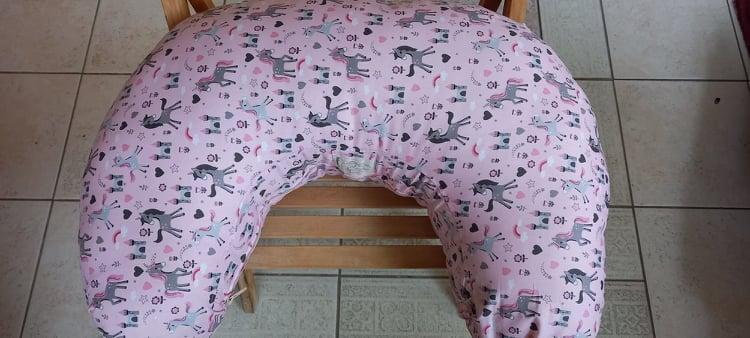 Μαξιλάρι θηλασμού - Thilasmos - Ροζ-γκρι μονόκερος