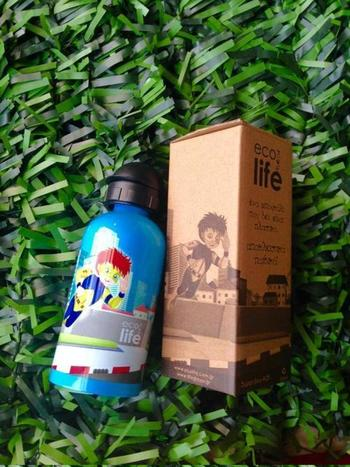 Μπουκάλι παιδικό ανοξείδωτο 500ml - Ecolife - Superboy