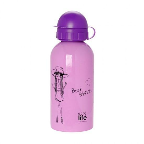 Μπουκάλι παιδικό ανοξείδωτο 500ml - Ecolife - Fashion