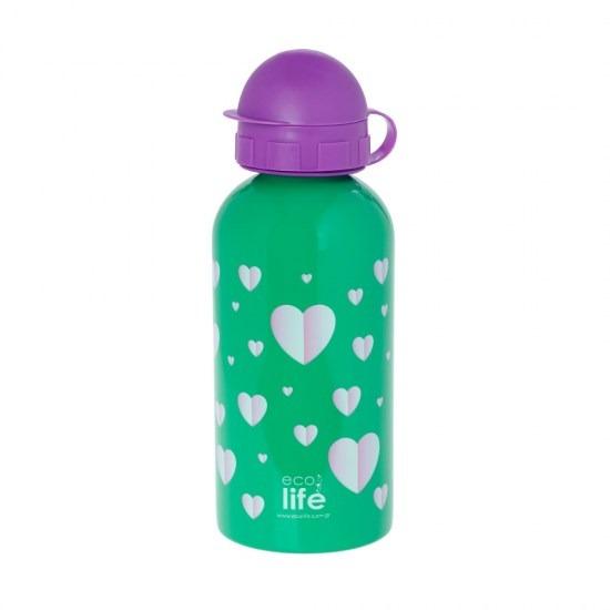 Μπουκάλι παιδικό ανοξείδωτο 500ml - Ecolife -HEARTS