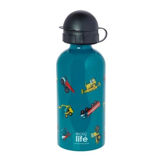 Μπουκάλι παιδικό ανοξείδωτο 500ml - Ecolife -TRUCKS