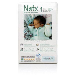 Οικολογικές πάνες Naty Newborn No1