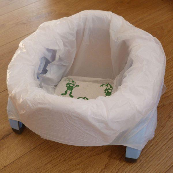 Γιο-γιο ταξιδιού και εκπαιδευτικό κάθισμα τουαλέτας, 2 σε 1, Potette Plus με σακκούλα