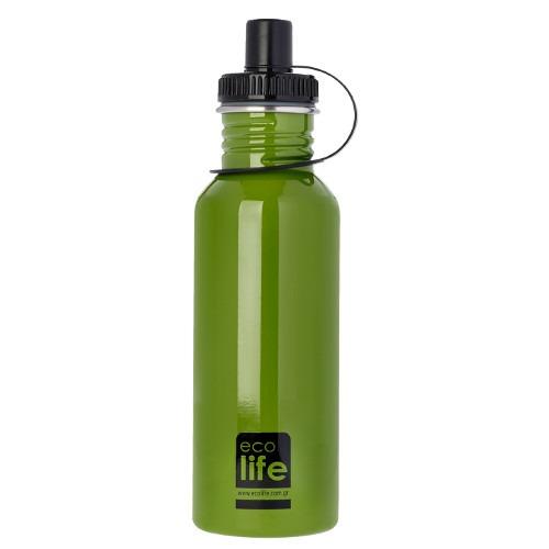 Μπουκάλι μεταλλικό, ανοξείδωτο 600ml - Ecolife - Πράσινο