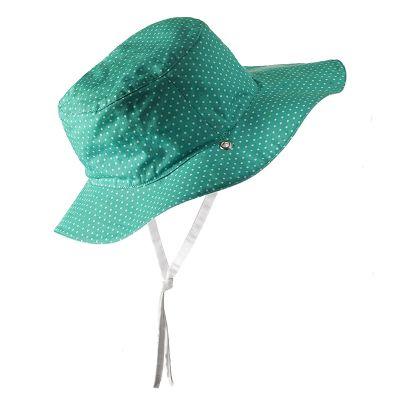 Καπέλο δύο όψεων, με αντηλιακή προστασία UV50 - KiETLA - Πράσινο πουά