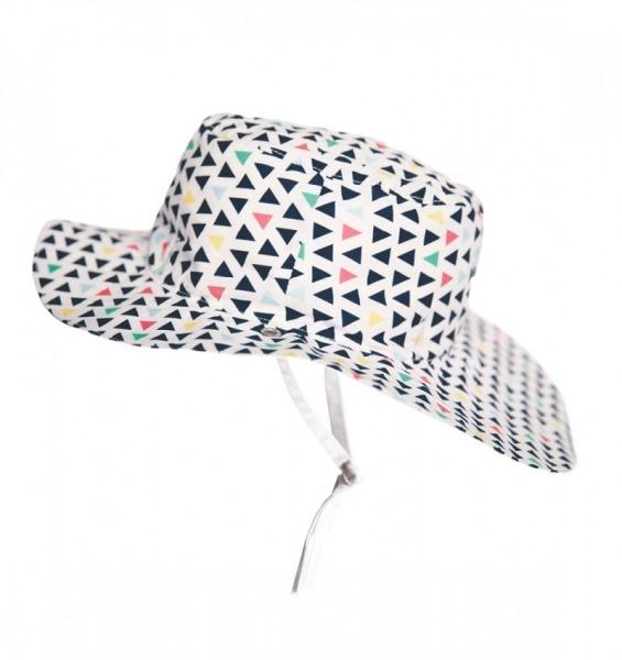 Καπέλο δύο όψεων, με αντηλιακή προστασία UV50 - KiETLA - Πολύχρωμα τρίγωνα