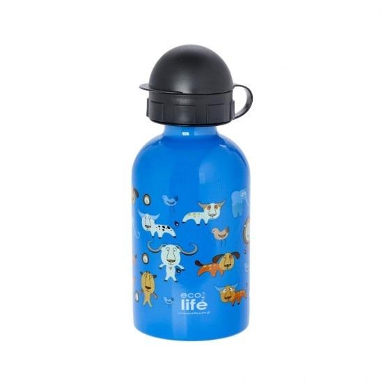 Μπουκάλι παιδικό, ανοξείδωτο, 400ml - Ecolife - Jungle