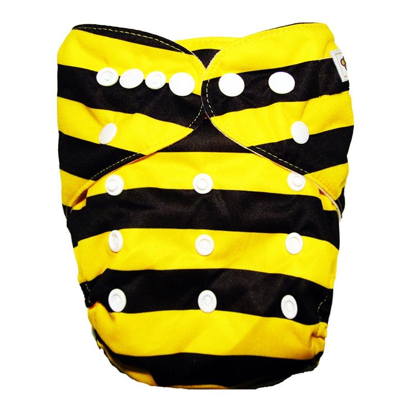 Πλενόμενη υφασμάτινη πάνα, Pocket One size – Funky Monkey - Bee
