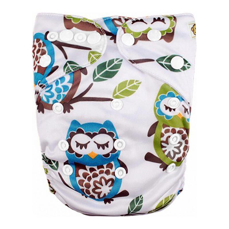 Πλενόμενη υφασμάτινη πάνα, Pocket One size – Funky Monkey - Owls