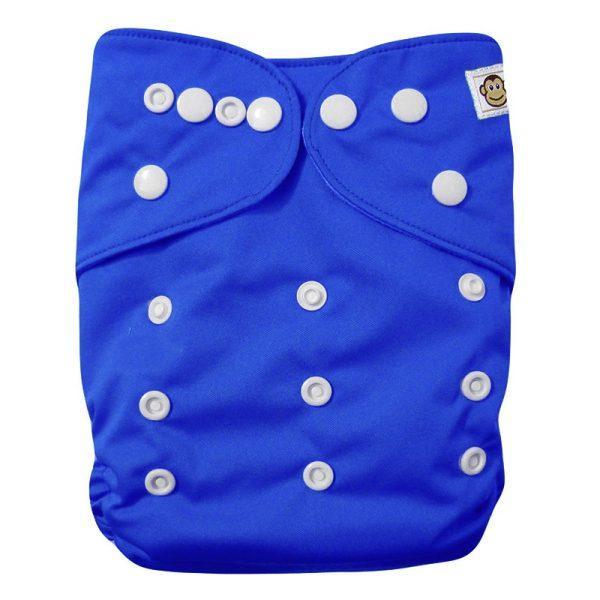 Πλενόμενη υφασμάτινη πάνα, Pocket One size – Funky Monkey - Μπλε