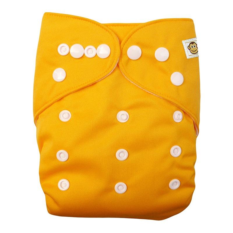 Πλενόμενη υφασμάτινη πάνα, Pocket One size – Funky Monkey - Πορτοκαλί