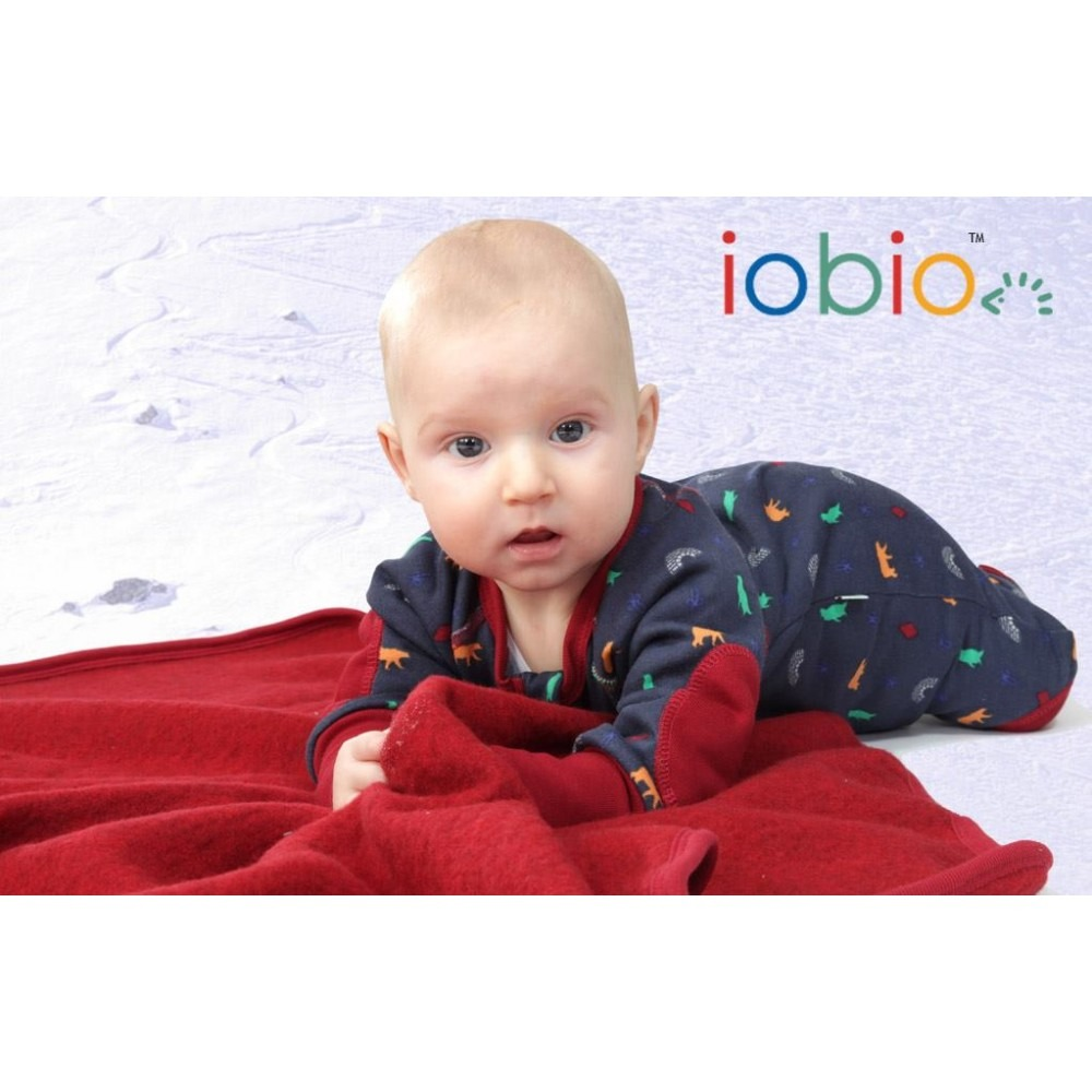 Κουβέρτα μωρού από οργανικό μαλλί fleece - Popolini