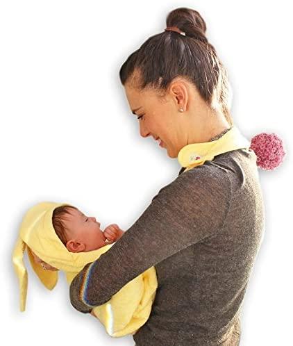 Πετσέτα αγκαλιάς για νεογέννητο - Minene - Κίτρινη