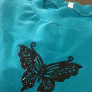 Μπλούζα θηλασμού λεπτό φούτερ, μακρυμάνικη, με λαιμόκοψη