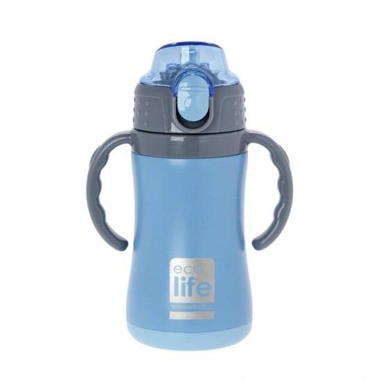 Μπουκάλι-θερμός ανοξείδωτο, με χερούλια, 300ml - Ecolife-ΓΑΛΑΖΙΟ2