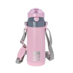 Μπουκάλι-θερμός ανοξείδωτο, με καλαμάκι, 400ml – Ecolife