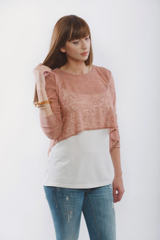 Μπλούζα θηλασμού - Caramel Knitted top