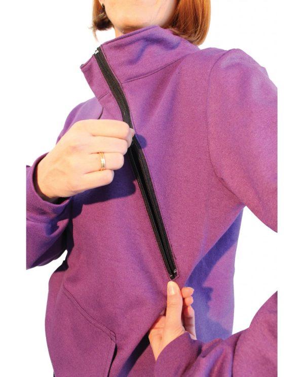 Μπλούζα θηλασμού φούτερ με γιακά2