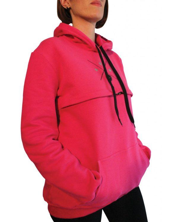 Μπλούζα θηλασμού basic φούτερ με κουκούλα2