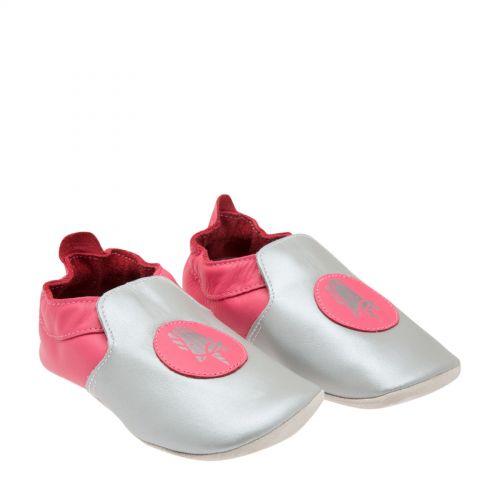 Βρεφικά παπουτσάκια Bobux, Small (3-9 μηνών)-Ροζ-ασημί