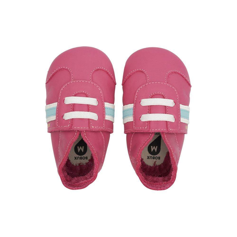Βρεφικα παπουτσάκια Bobux soft sole - Ροζ classic sport