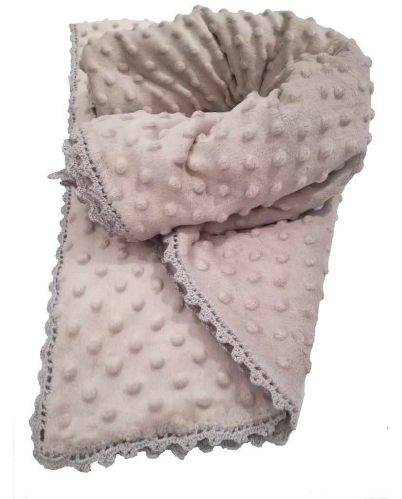 Κουβέρτα μωρού minky - Γκρι