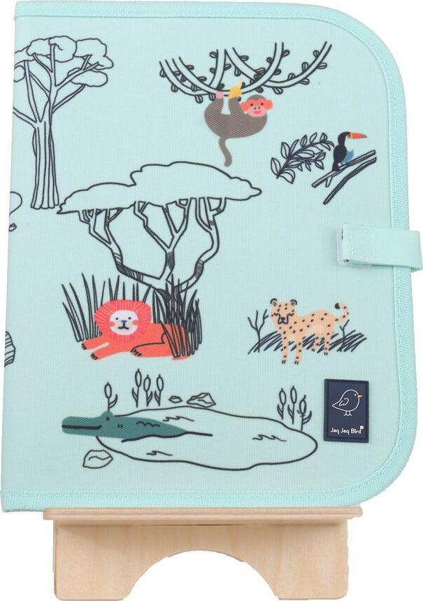 Βιβλίο ζωγραφικής με κιμωλίες, χωρίς σκόνη - Jaq Jaq bird-Σαφάρι