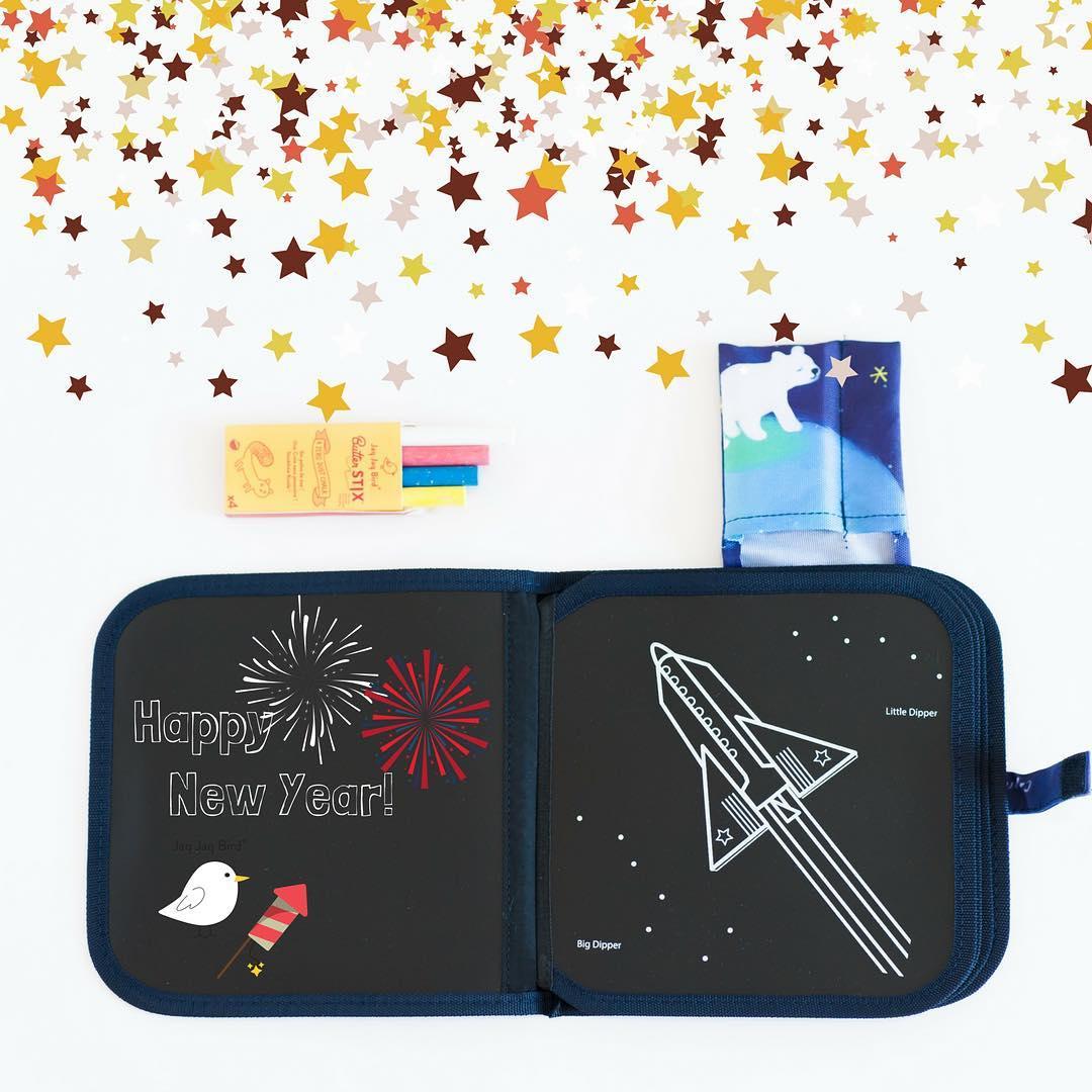 Βιβλίο ζωγραφικής με κιμωλίες - Jaq Jaq bird - Διάστημα