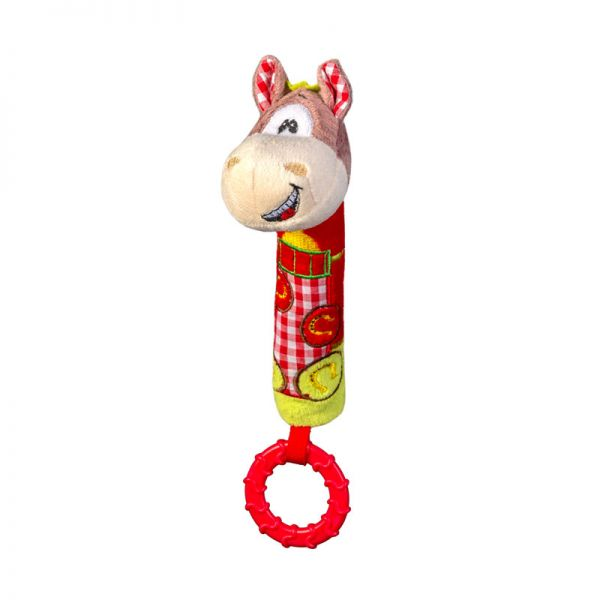 Μαλακό παιχνίδι με ήχο και μασητικό - BabyOno - Αλογάκι