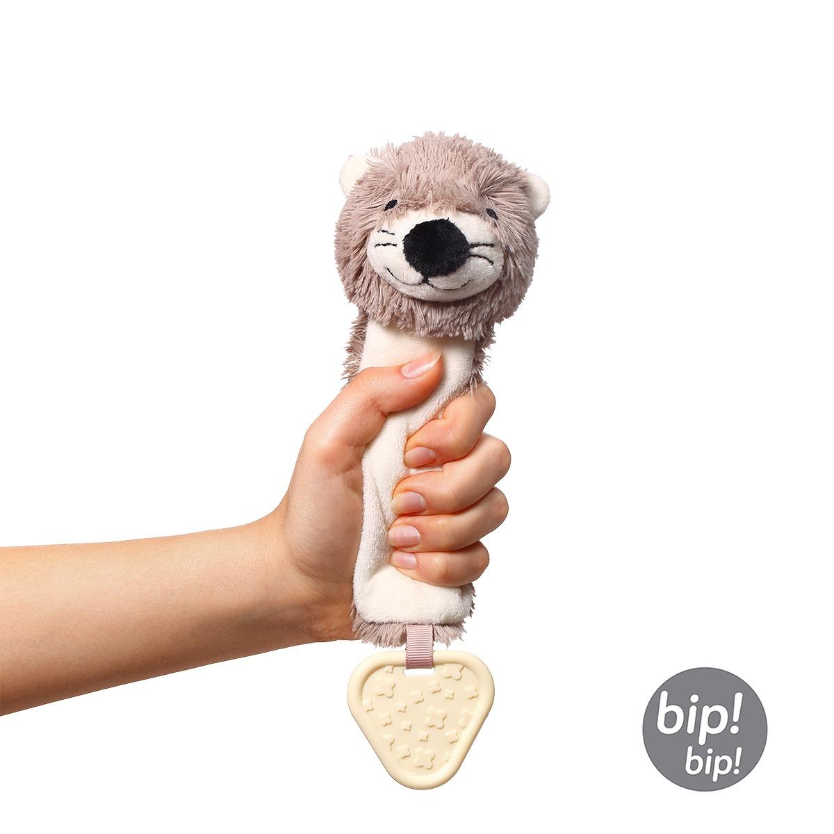 Μαλακό παιχνίδι με ήχο και μασητικό της BabyOno-Φώκια squeeze