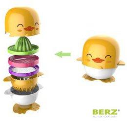 Πολυεργαλείο προετοιμασίας βρεφικών τροφών σετ 7 σε 1 - BERZ - Παπάκι