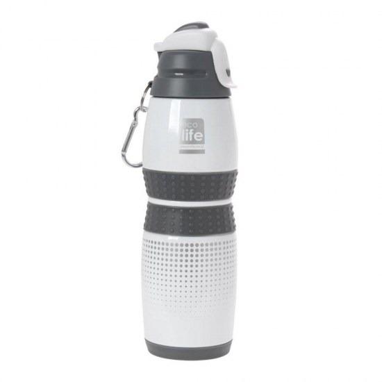 Μπουκάλι-θερμός ανοξείδωτο, 400ml - Ecolife - Λευκό
