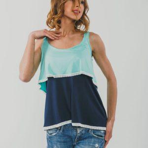 Μπλούζα θηλασμού αμάνικη Two Colours