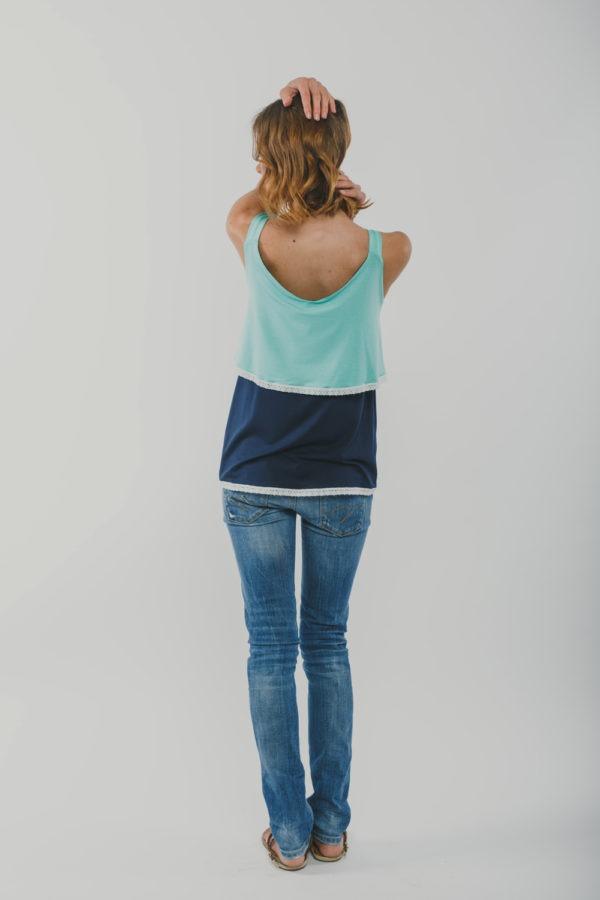 Μπλούζα θηλασμού αμάνικη Two Colours - back