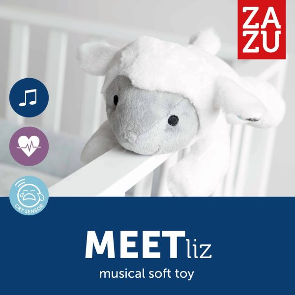 Συσκευή λευκών ήχων & 4 μελωδίες - ZAZU - Προβατάκι