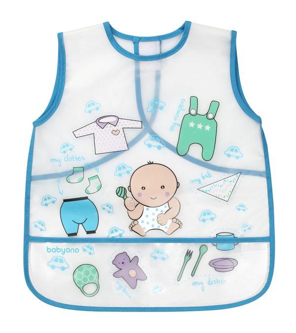 Σαλιάρα-ποδιά πλαστική, 12m+ - Babyono - Μωρό