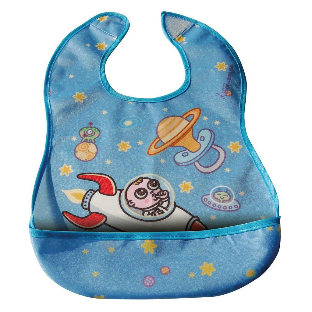 Σαλιάρα πλαστική, με τσέπη - LAKEN - Astro baby1