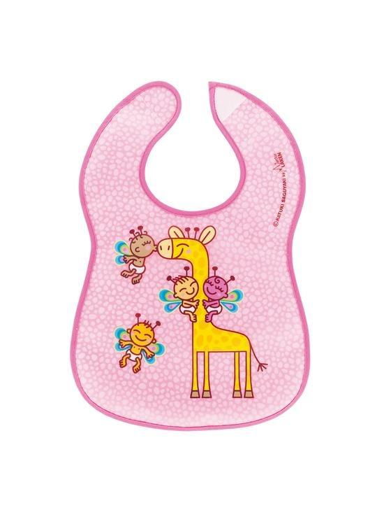 Σαλιάρα πλαστική, με τσέπη - LAKEN - Giraffe