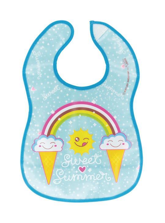 Σαλιάρα πλαστική, με τσέπη - LAKEN - Sweet summer
