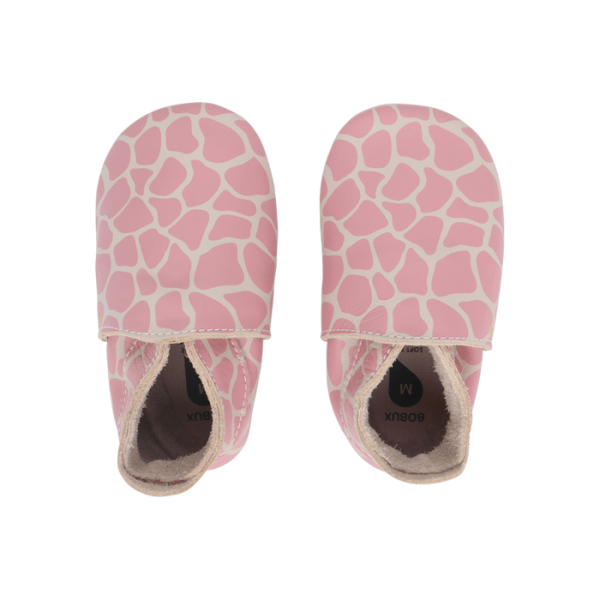 Soft sole, Bobux - Girrafe pink