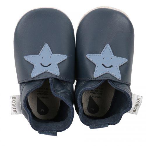Βρεφικά παπουτσάκια Bobux - Μπλε αστεράκια
