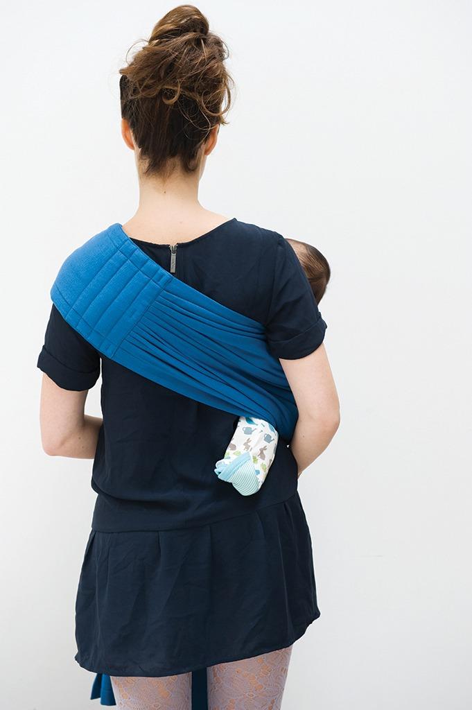 Μάρσιπος Ring sling για babywearing - Babylonia-μπλε