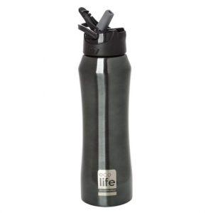 Mπουκάλι-θερμός με καλαμάκι, ανοξείδωτο, 550ml – Ecolife