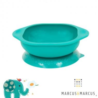 Μπολ σιλικόνης με βεντούζα αντιολισθητική - Marcus & Marcus - Πράσινο