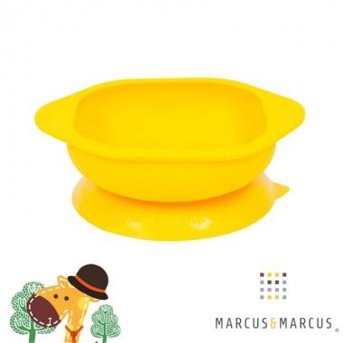Μπολ σιλικόνης με βεντούζα αντιολισθητική - Marcus & Marcus - Κίτρινο